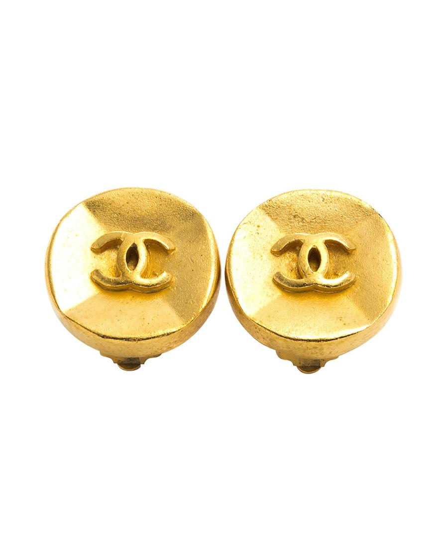 Circular double-C clip-on earrings Sale - Chanel