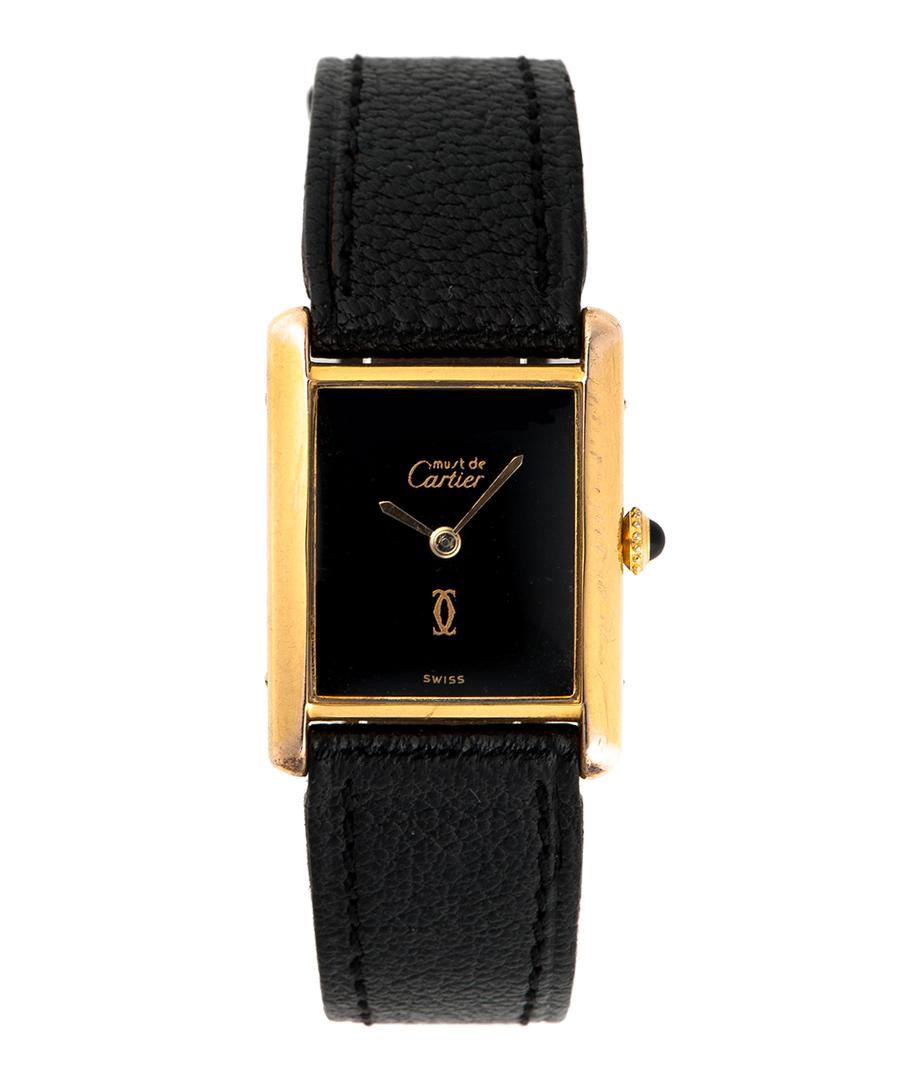 Must de Cartier Tank black watch Sale - Cartier