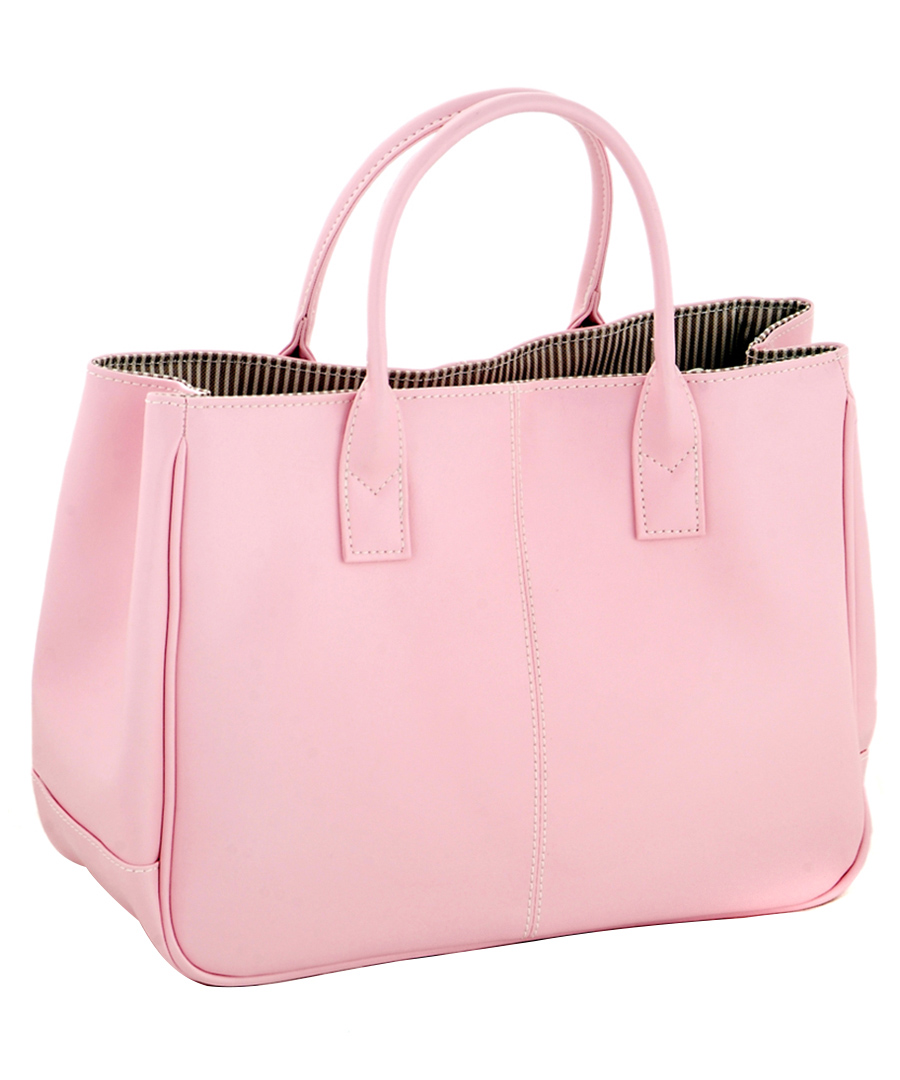 cannci light pink leather square tote bag designer bags sale new. Black Bedroom Furniture Sets. Home Design Ideas