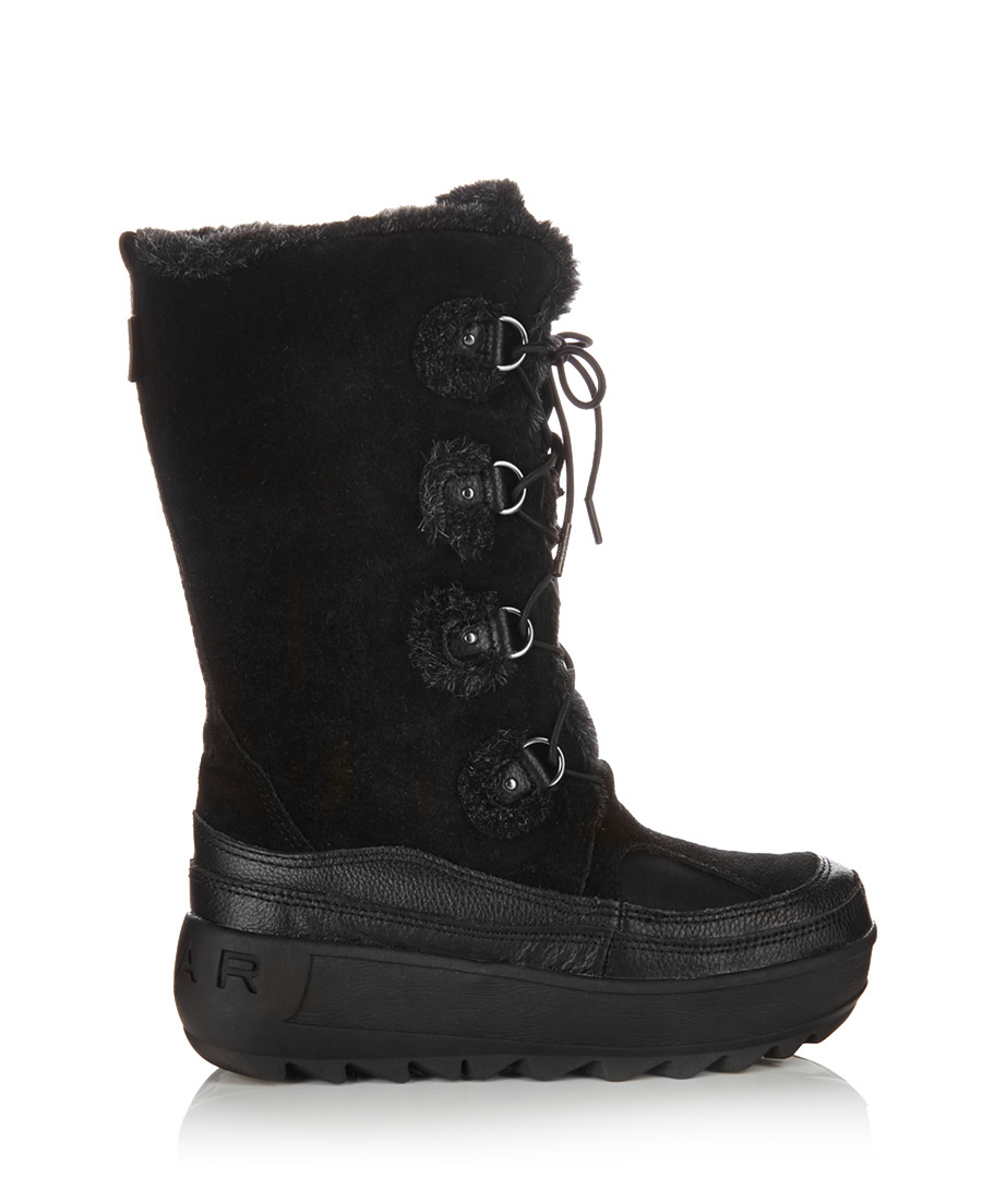 Unique Womenu0026#39;s Elk Leather Moccasin Boots With Sole - 137597MAL