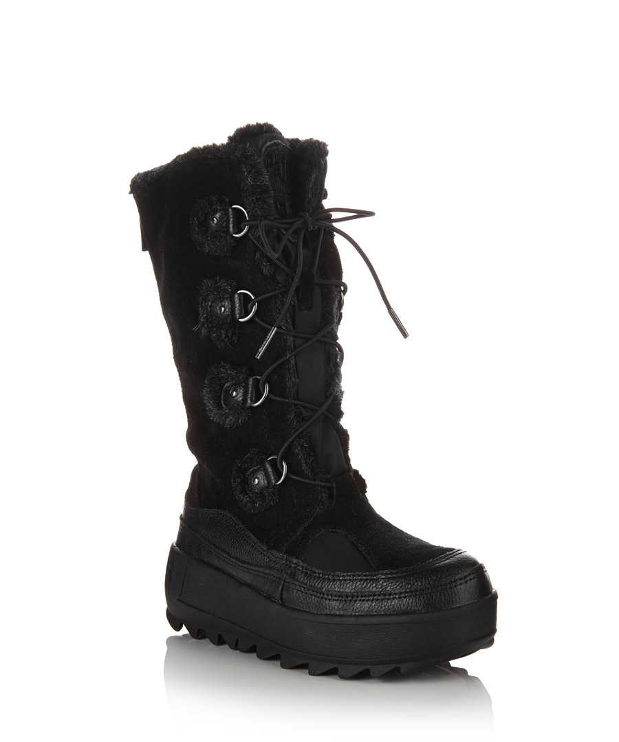 Pajar Women's Native black snow boots, Designer Footwear