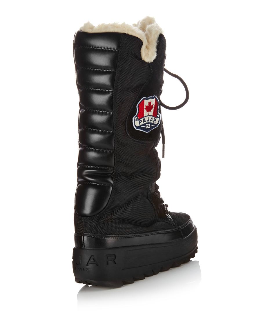 Pajar Women's Greenland black snow boots, Designer