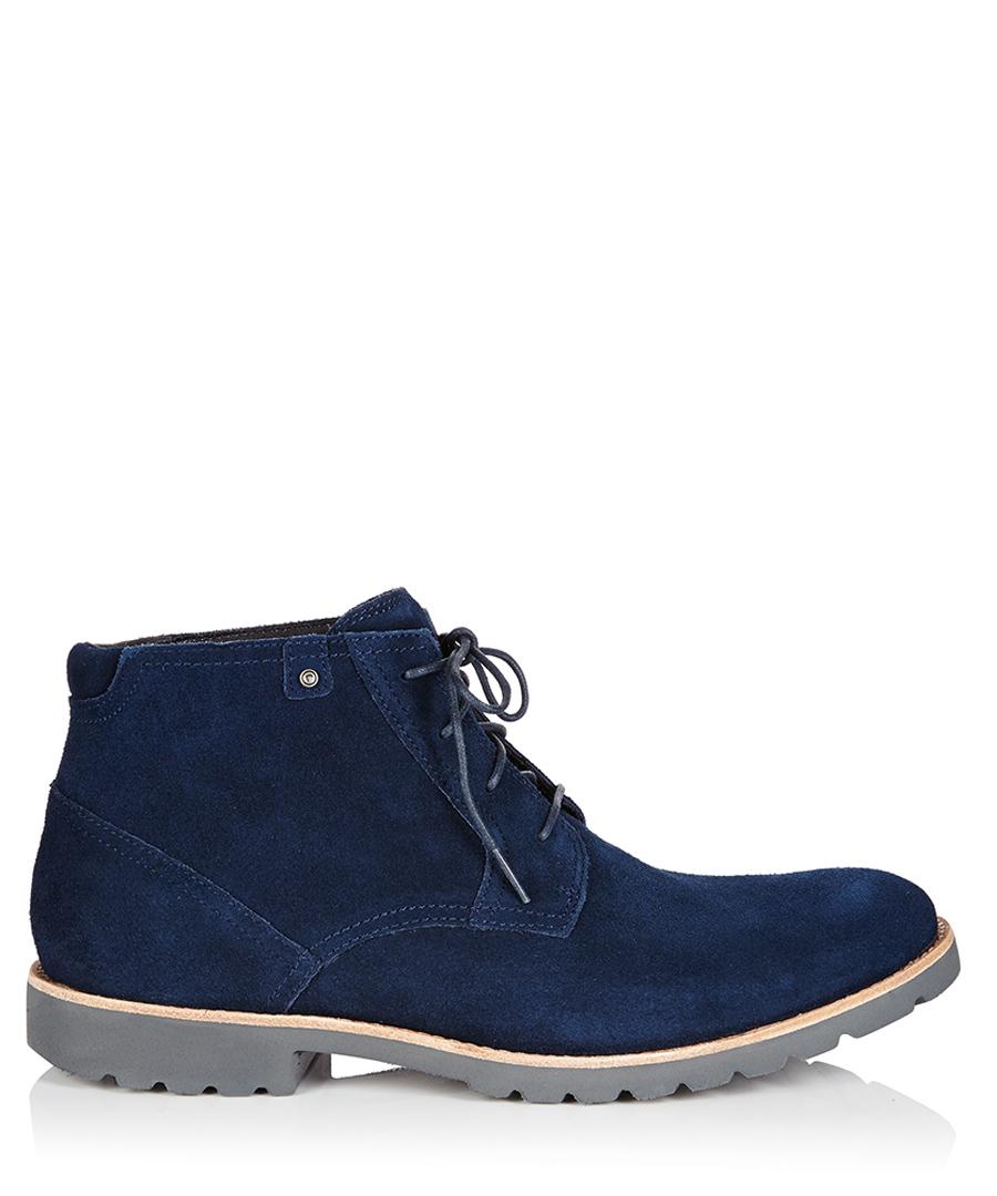 rockport ledge hill navy suede ankle boots designer