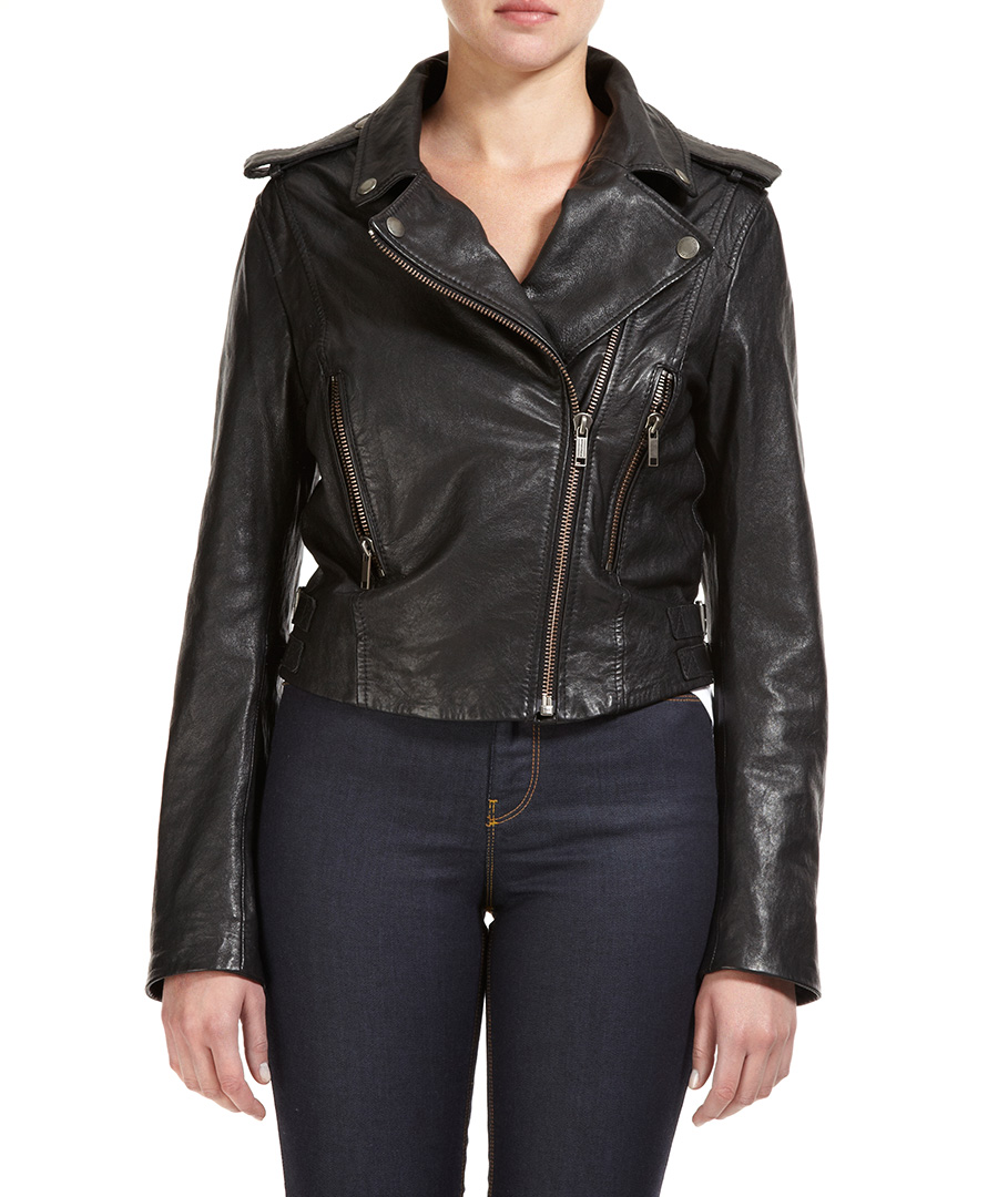 Black leather jackets on sale