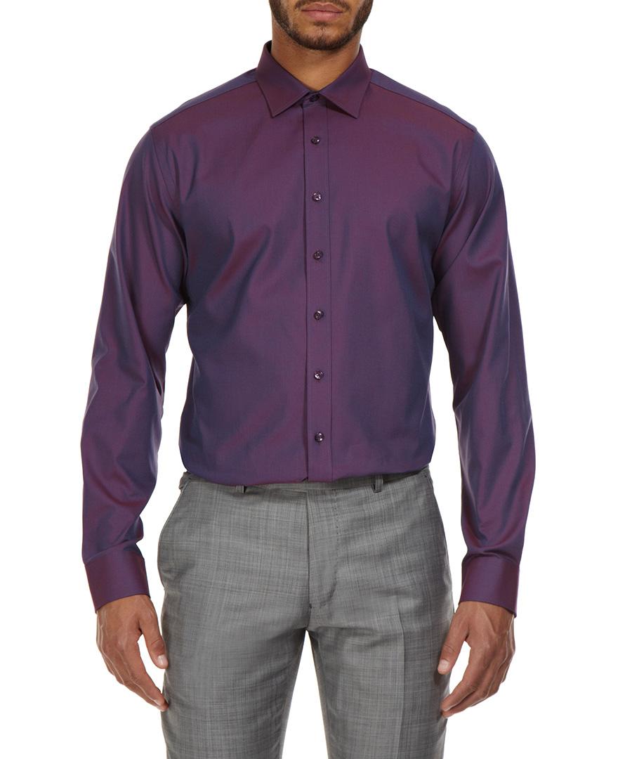 ben sherman burgundy oxford kings shirt designer topwear sale ben sherman tailoring secretsales. Black Bedroom Furniture Sets. Home Design Ideas