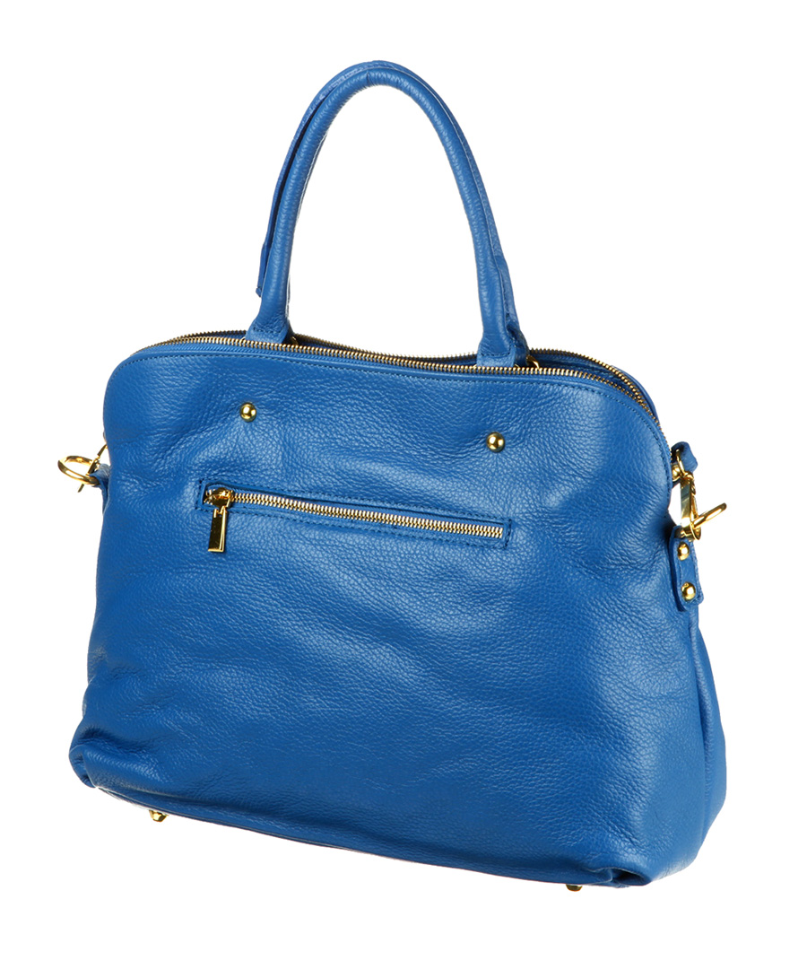Royal blue leather grab bag Sale - Les Naiades Sale