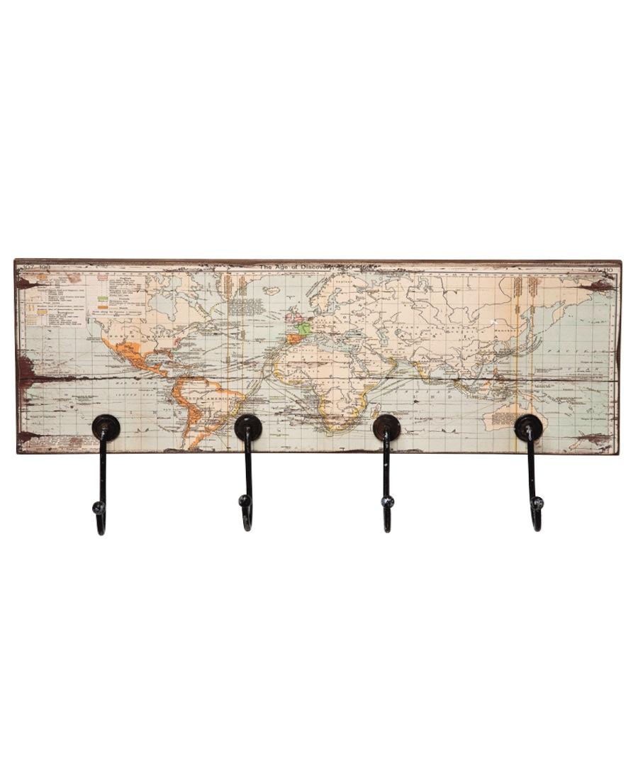 World map rectangular coat rack Sale - Kare