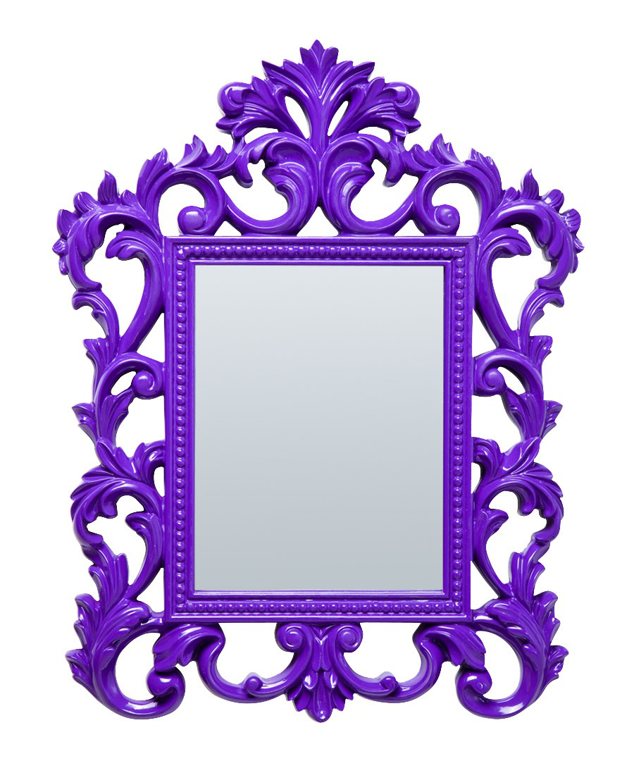 kare modern baroque purple mirror designer homeware sale