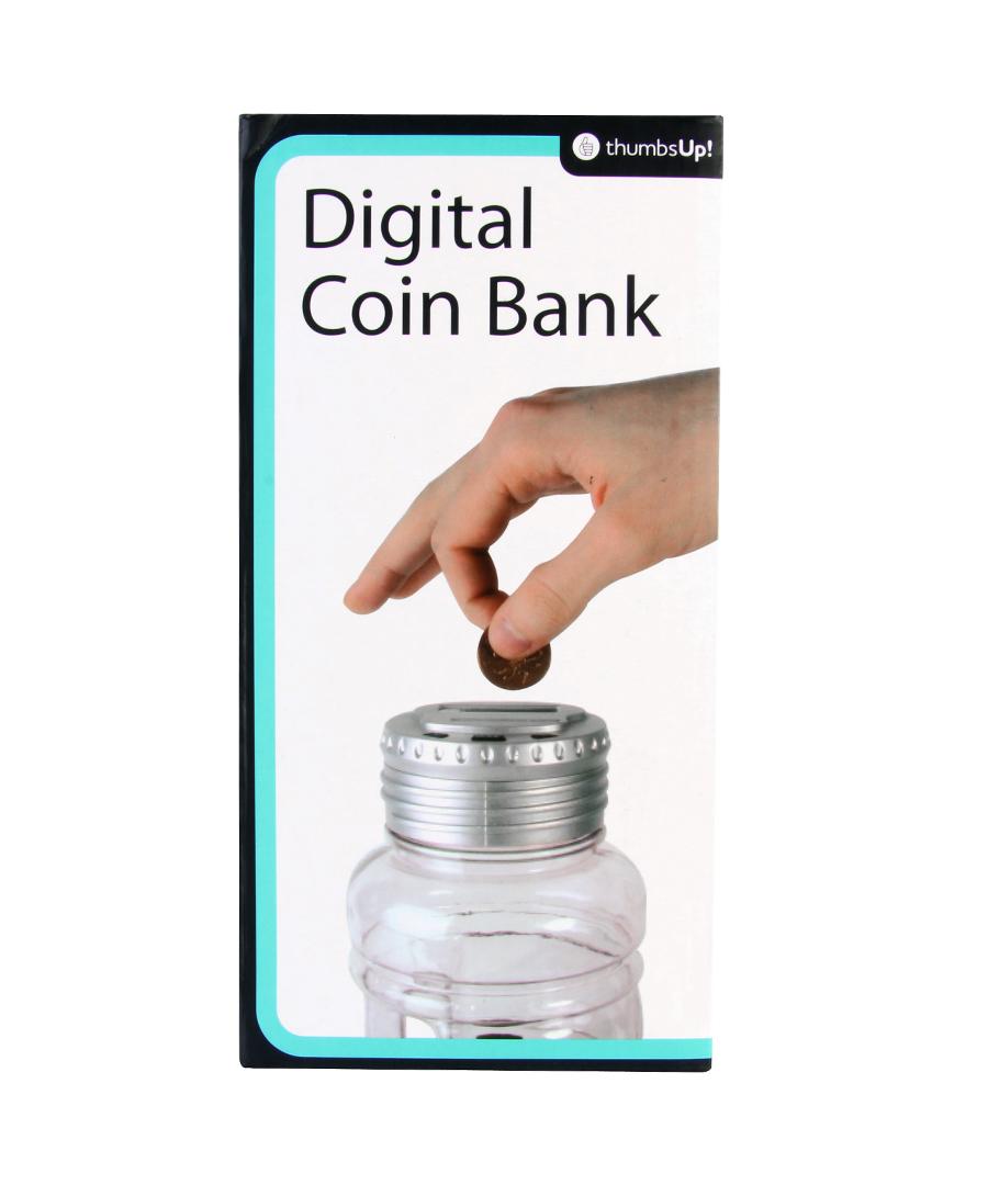 Thumbsup digital coin bank designer homeware sale go go for Secret piggy bank