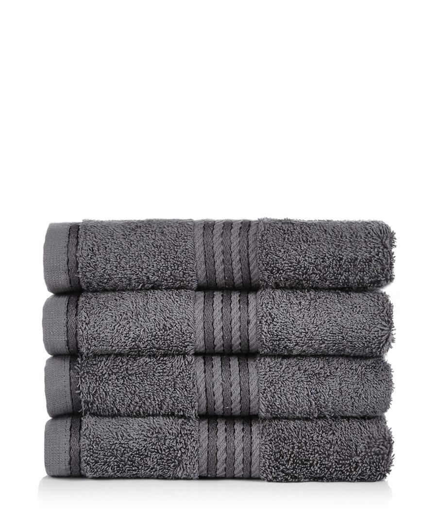 restmor grey bath towels designer homeware sale bath sheets and towel bales secretsales. Black Bedroom Furniture Sets. Home Design Ideas