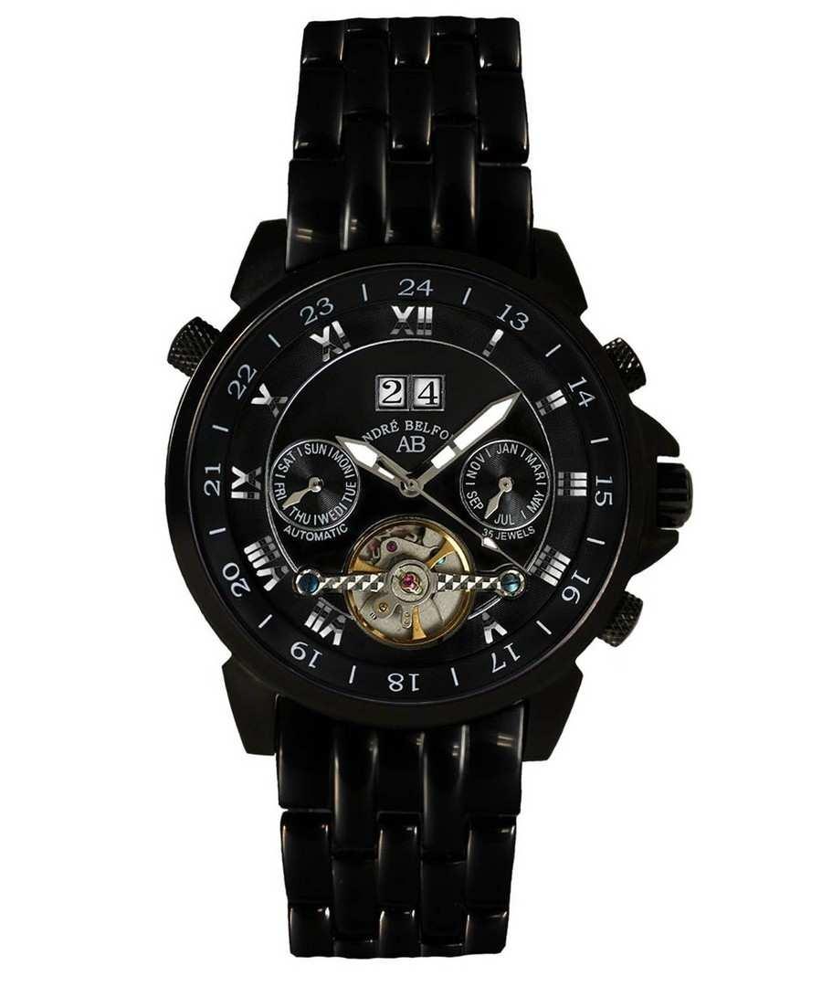 Étoile Polaire black steel watch Sale - André Belfort