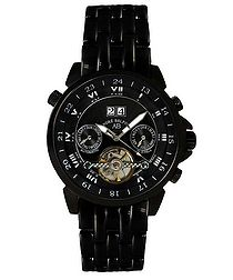 Étoile Polaire black steel watch