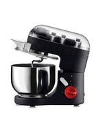 Black electric stand mixer