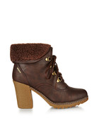 Kirsty brown lace-up ankle boots