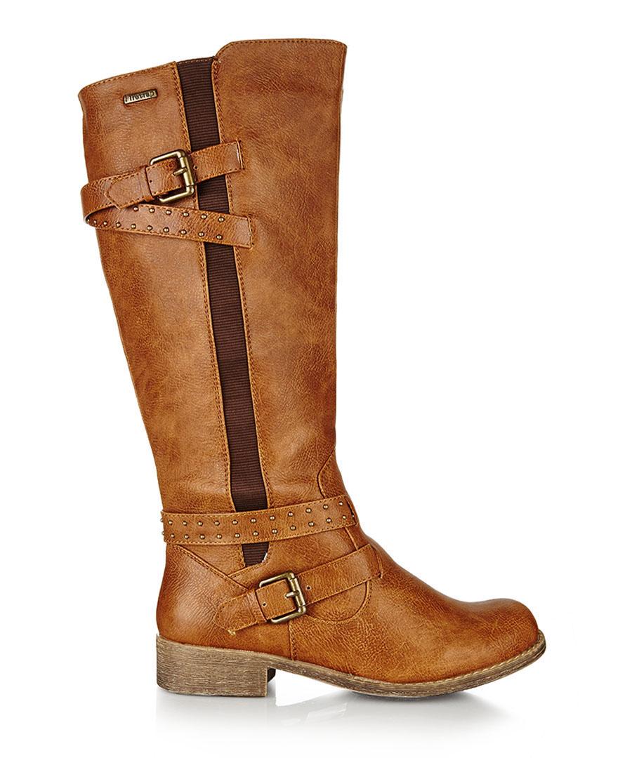 Lisa tan studded strap boots Sale - Firetrap
