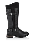 Dream black suede-effect boots