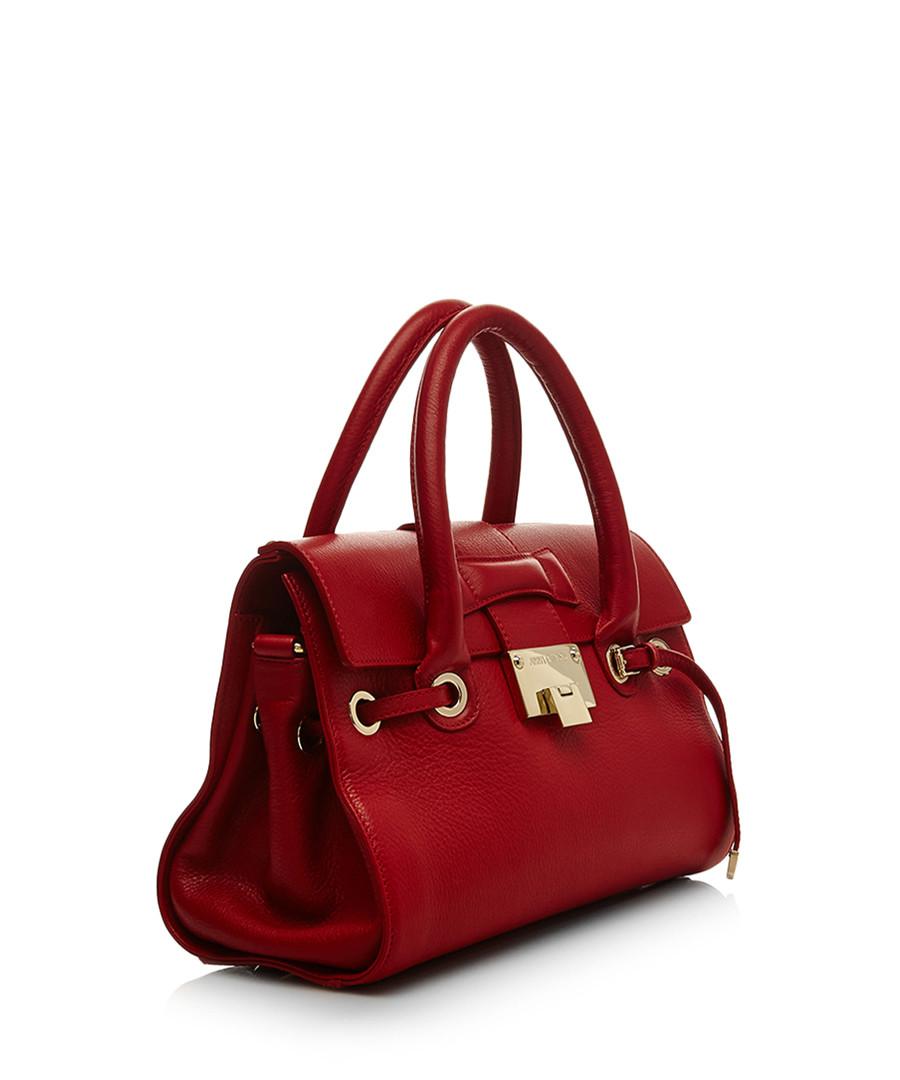 Jimmy Choo Red leather lock handbag, Designer Bags Sale ...