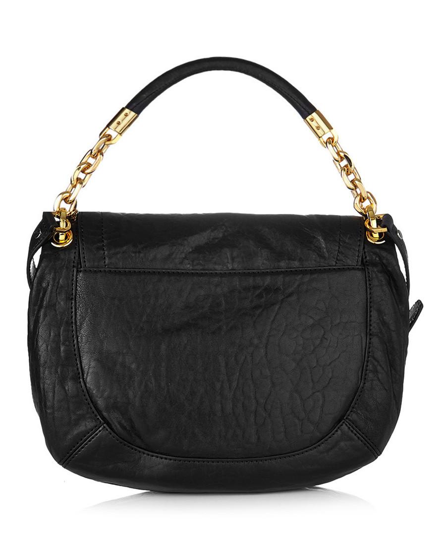 Prada Smooth Black Leather Shoulder Bag For Sale at 1stdibs