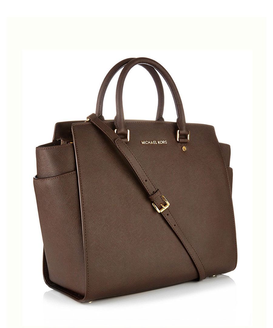 c20e2ac8c73ec9 Michael Kors Large brown leather winged tote bag, Designer Bags Sale, Michael  Kors Bags
