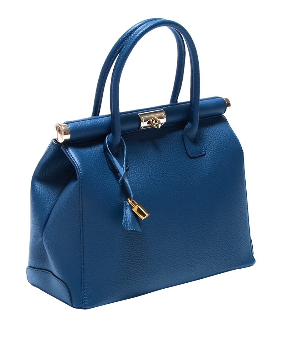 Blue leather tote bag Sale - Renata Corsi Sale