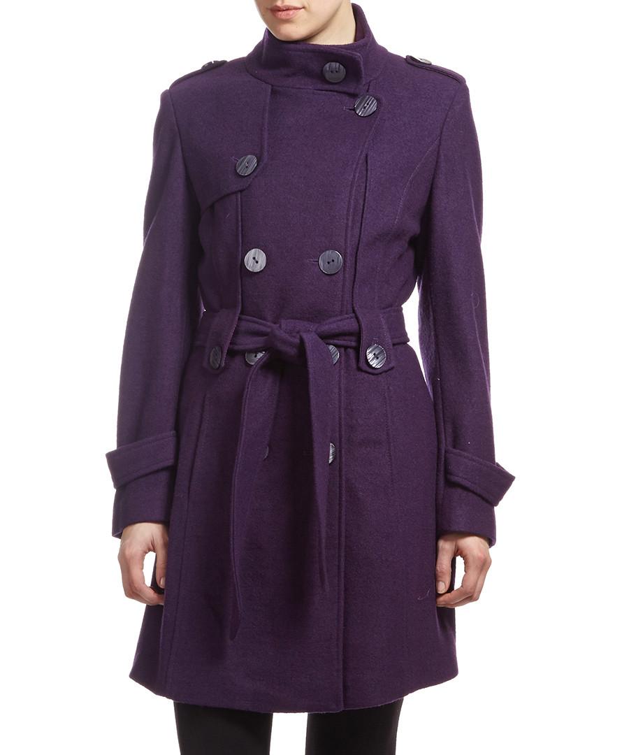 Purple coat for women