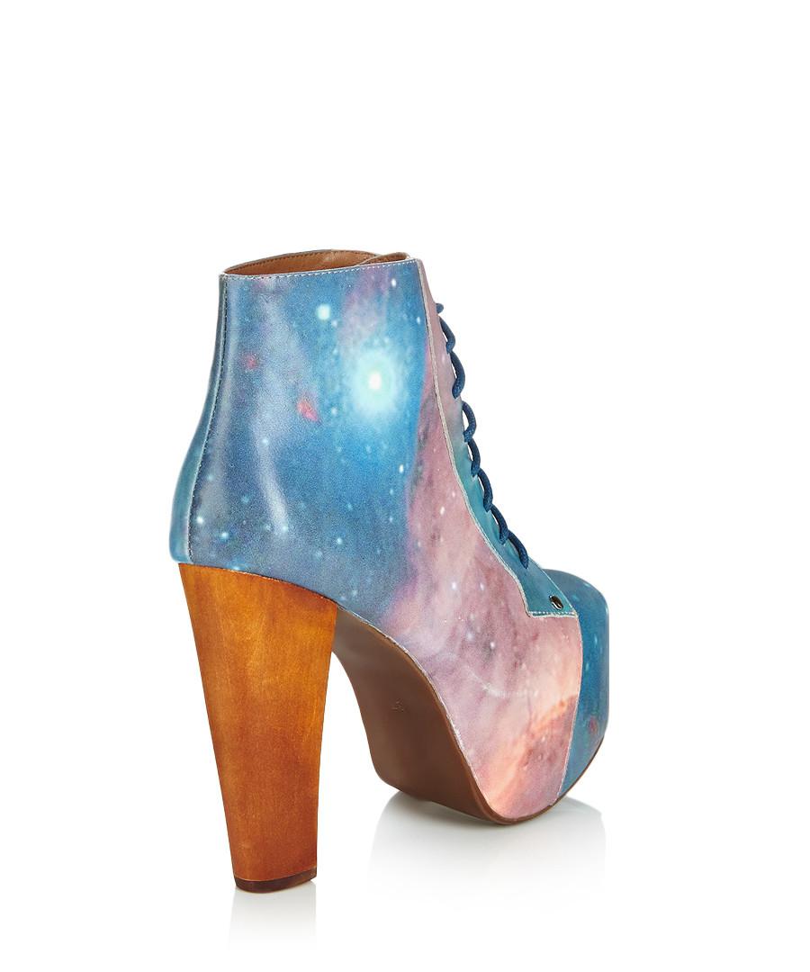 jeffrey campbell lita blue leather boots designer footwear sale jeffrey campbell secretsales. Black Bedroom Furniture Sets. Home Design Ideas