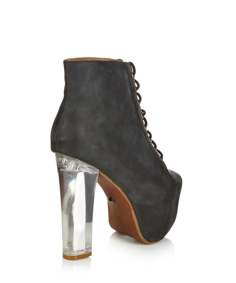 jeffrey campbell lita black light up heel leather boots designer footwear sale jeffrey. Black Bedroom Furniture Sets. Home Design Ideas