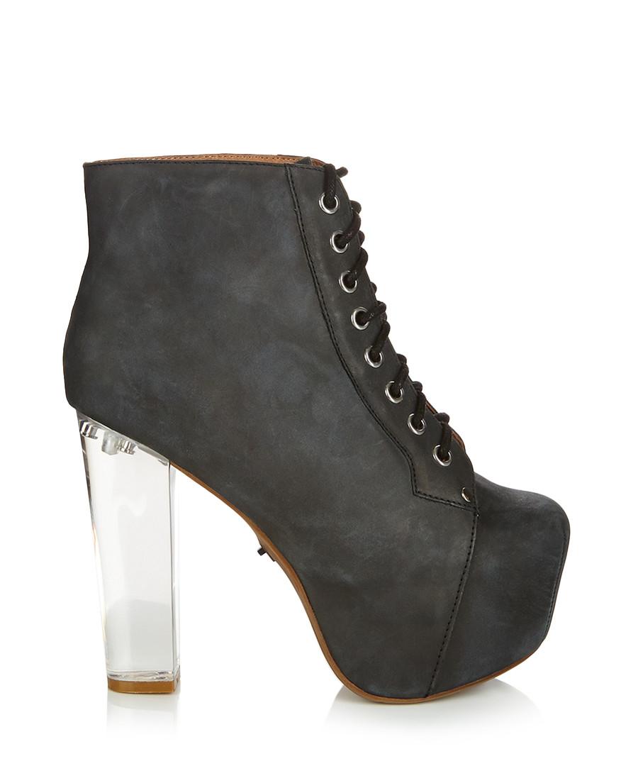 jeffrey campbell lita black light up heel leather boots designer footwear sale outlet. Black Bedroom Furniture Sets. Home Design Ideas