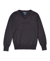 5 7yrs dark grey wool jumper