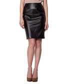 Black leatherette skirt