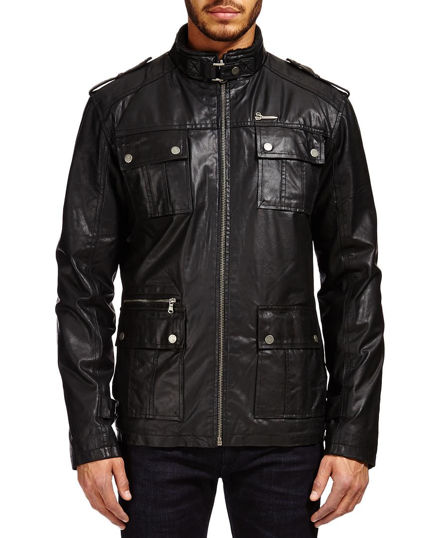 Black leather field jacket Sale - Barney's Originals