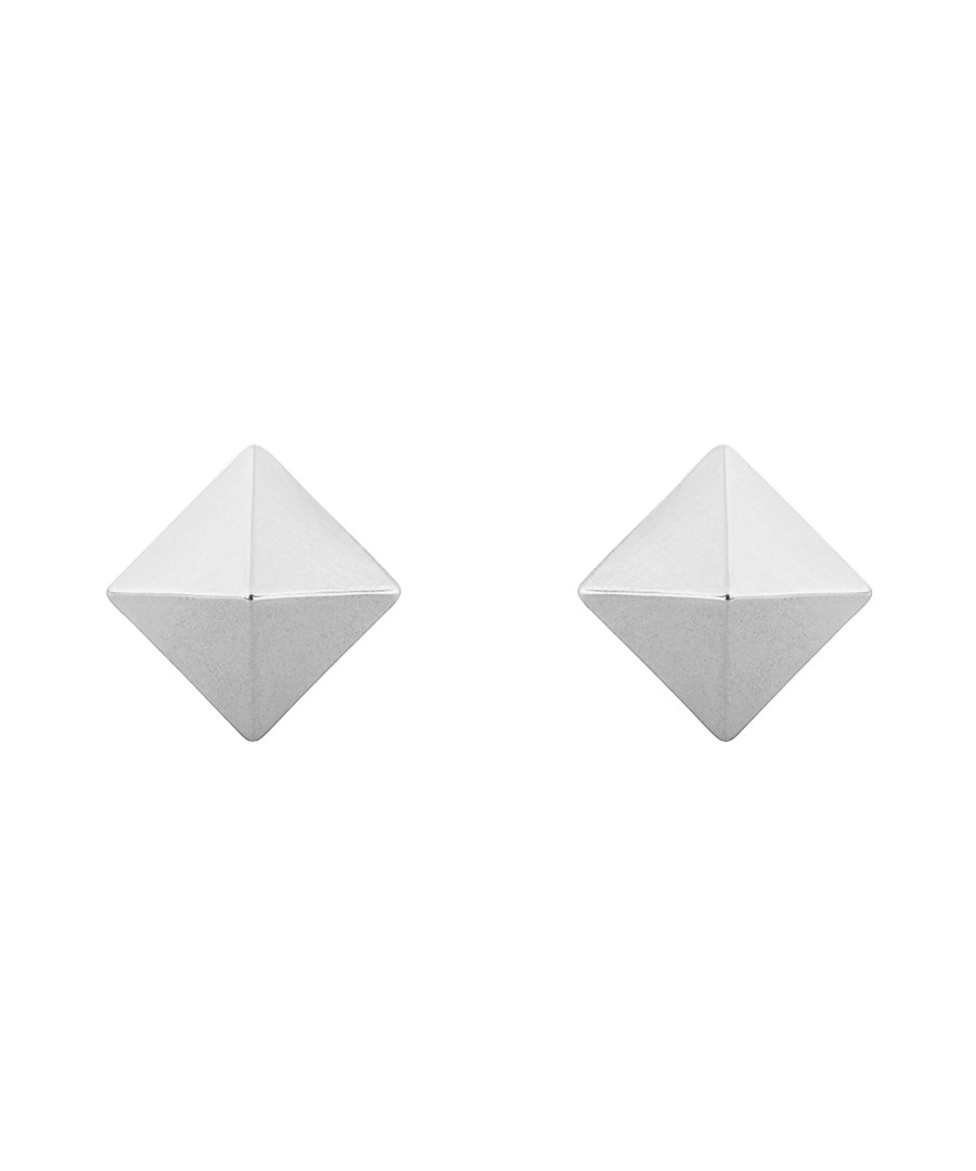 Silver-plated pyramid stud earrings Sale - Jules Smith