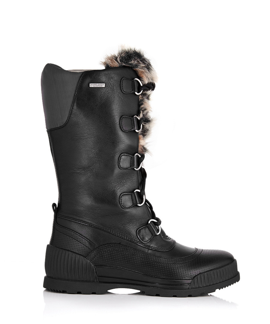Rockport Aliana black leather snow boots , Designer