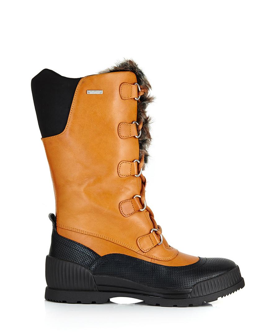 Rockport Aliana mustard leather snow boots, Designer