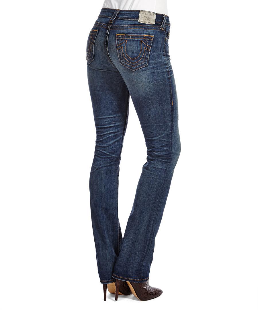 true religion avery definace blue cotton blend jeans. Black Bedroom Furniture Sets. Home Design Ideas