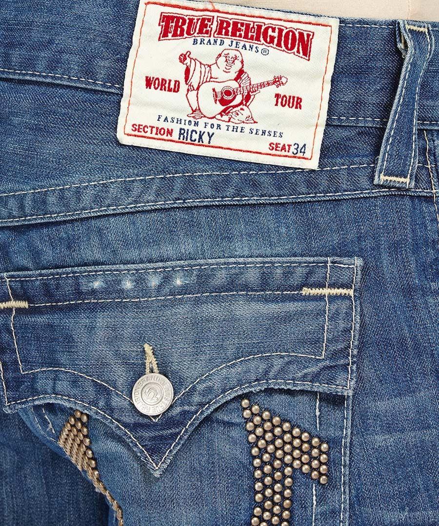 true religion ricky dodge city blue jeans designer. Black Bedroom Furniture Sets. Home Design Ideas