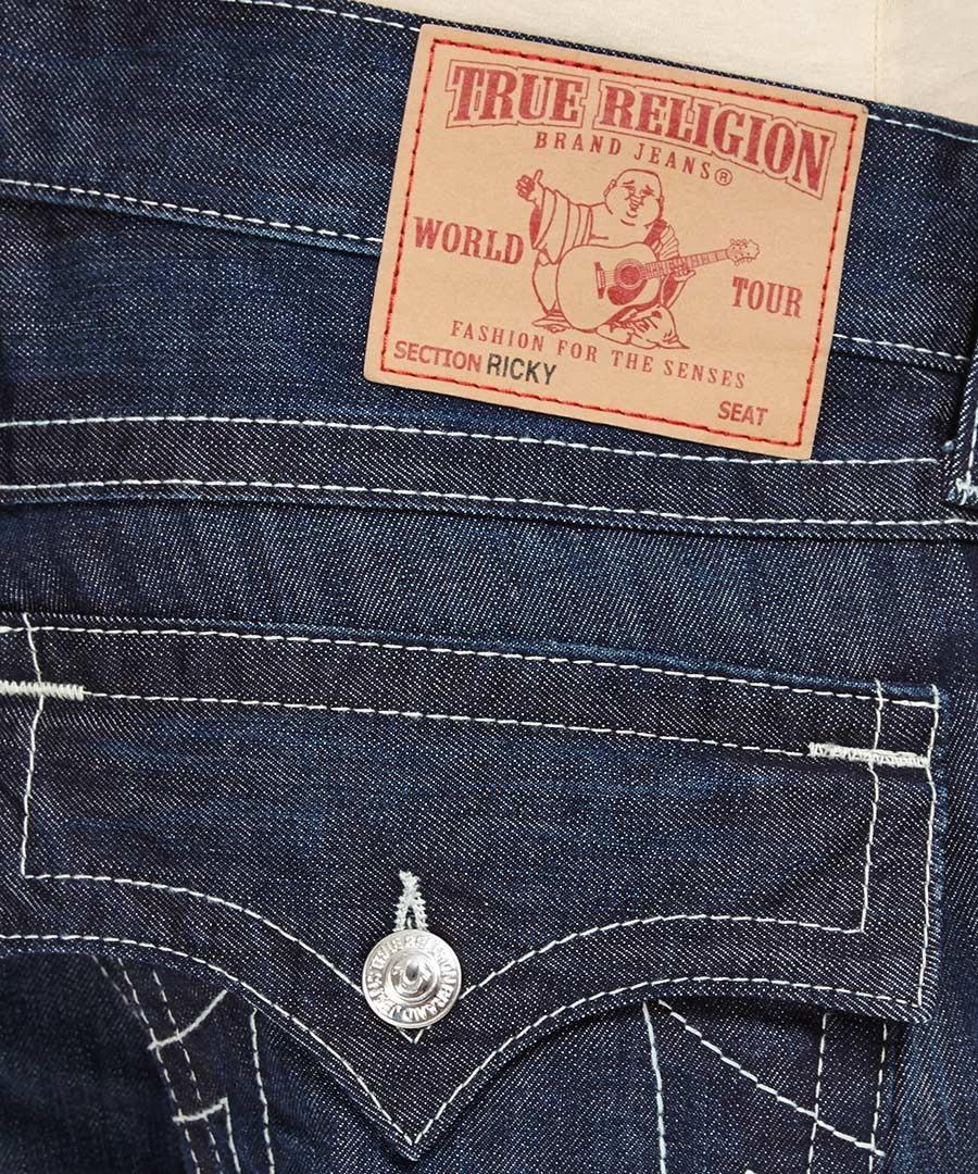 true religion ricky nashville dark blue jeans designer. Black Bedroom Furniture Sets. Home Design Ideas