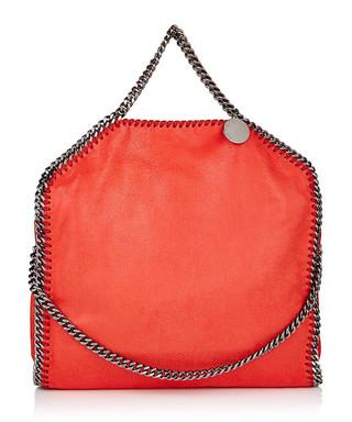 designer purse sale zn4e  Falabella Shaggy Deer small orange tote Sale