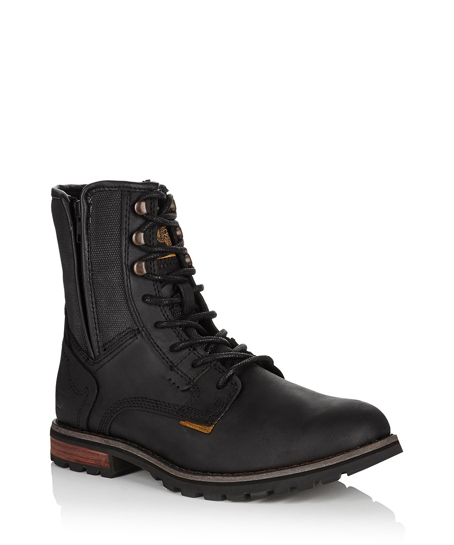 cat s black leather andreas boots designer footwear
