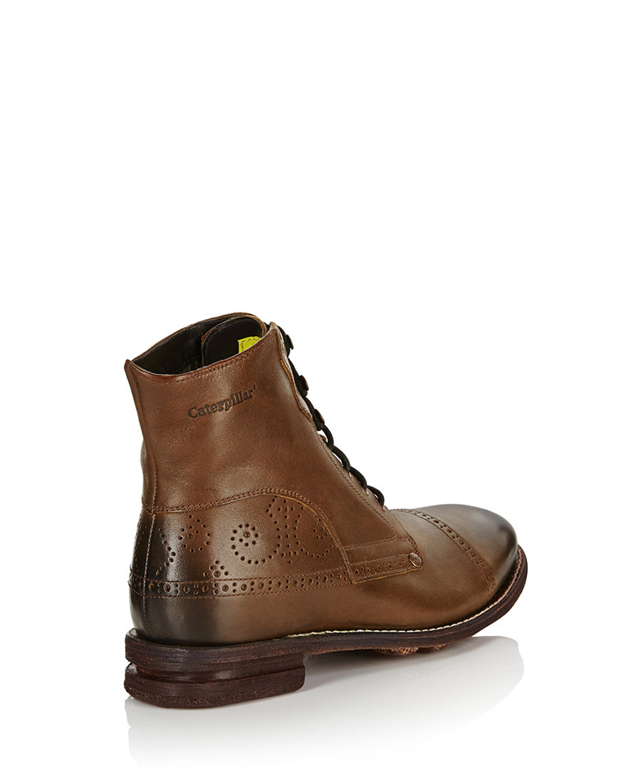 cat s murray light brown leather boots designer