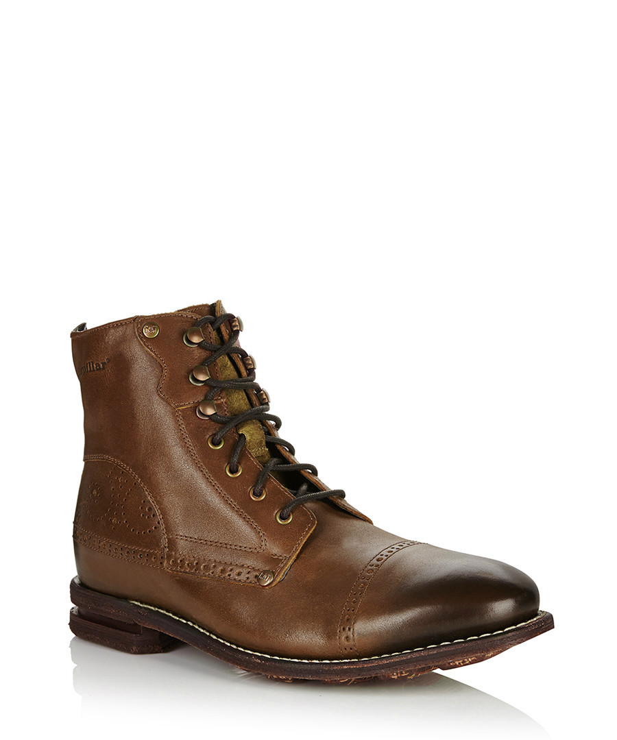 caterpillar s murray light brown leather boots