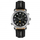 Aventure black dial leather watch